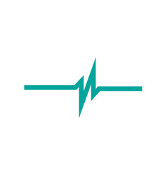 linear cardiogram cardiology heart beat monitor vector image