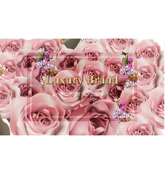 luxury roses background realistic rose and vector image