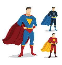 male superhero standing with pride and confident vector image
