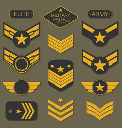 Military army badge set typography t shirt vector