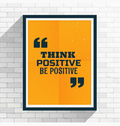 Motivation quotation written on frame vector
