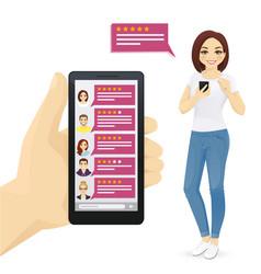 Online reviews vector
