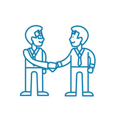 partnerships linear icon concept partnerships vector image