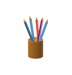 pencil graphic design template vector image