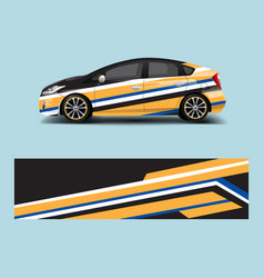 Printcar wrap decal design graphic abstract vector