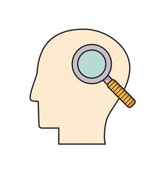 profile head search creativity vector image