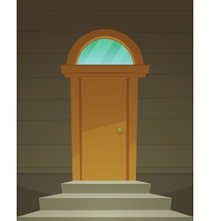 Retro Front Door vector image