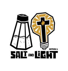 Salt and light vector