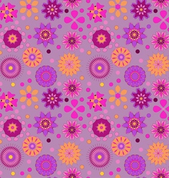 seamless background with delicate colored flowers vector image