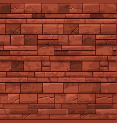 seamless pattern brick stone wall red old texture vector image