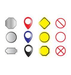 Set of labels buttons and icons vector