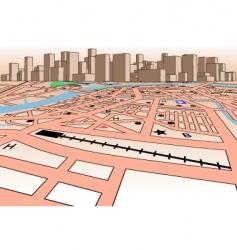 Skyline map vector
