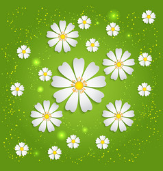 Spring background with volumetric vector