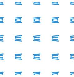 stapler icon pattern seamless white background vector image
