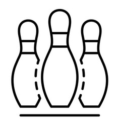 start bowling game icon outline style vector image