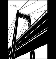 stylized bridge vector image