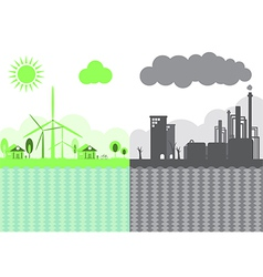 Sustainability of earth ecology concept vector