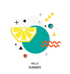trendy style geometric pattern with lemon vector image