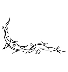tribal tattoo stars vector image