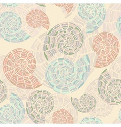 vector seamless background with sea shells vector image