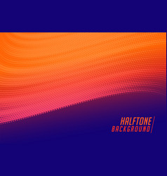 vibrant flowing halftone wave on purple background vector image