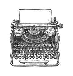 Vintage mechanical typewriter vector