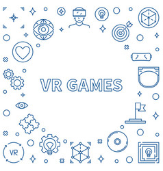 vr games frame or in thin line vector image