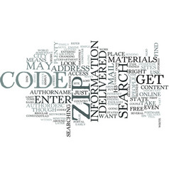 Zip code search text word cloud concept vector
