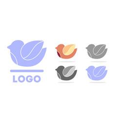 bird logo dove silhouette vector image vector image