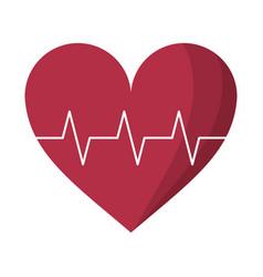 heart pulse rhythm cardio vector image vector image