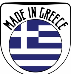 Made in Greece rubber stamp vector image vector image