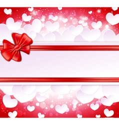 Paper banner with bow and ribbons vector image