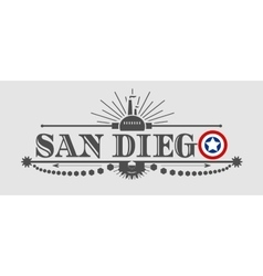 San Diego city name with flag colors vector image vector image