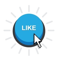 Blue Button Like vector image