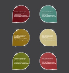 color speech bubbles with spark vector image