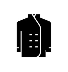 cook dress icon black sign vector image vector image