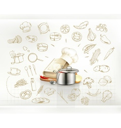 Cooking infographics vector image vector image