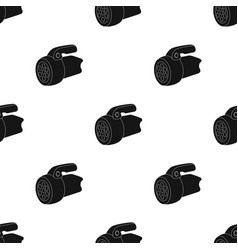 flashlighttent single icon in black style vector image vector image