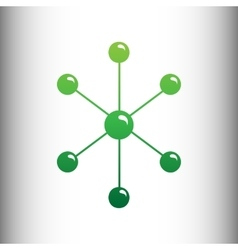 Molecule sign Green gradient icon vector image vector image