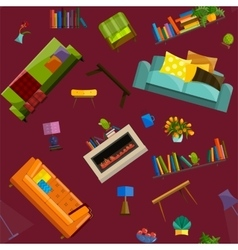 sale products in a furniture store seamless vector image vector image