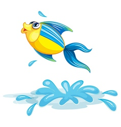 A fish at the sea vector image vector image