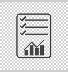 Checklist icon graph flat vector