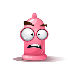 funny cute crazy condom sad smiley vector image