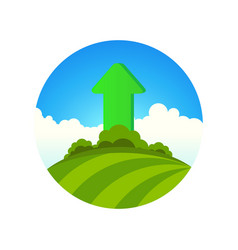 planting of greenery vector image vector image