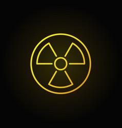 Radiation linear yellow icon vector
