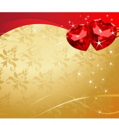 valentine ruby hearts vector image vector image