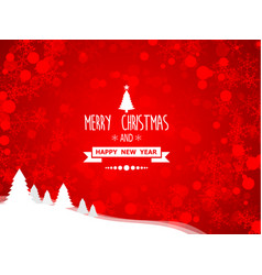abstract merry christmas and happy new year vector image