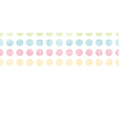 Abstract textile polka dots stripes horizontal vector image