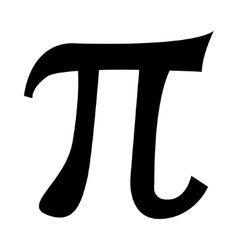black pi symbol icon vector image
