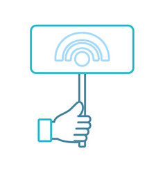 hand with wireless sign vector image vector image